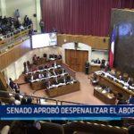 Chile: Senado aprobó despenalizar el aborto