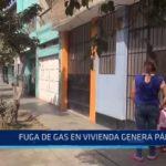 Fuga de gas en vivienda genera pánico
