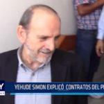 Lambayeque: Yehude Simon explicó contratos del Proyecto Olmos