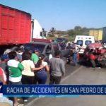 Racha de accidentes en San Pedro de Lloc