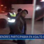 Adolescentes participaban en asalto a pasajeros de buses