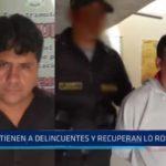 Moche: Detienen a delincuentes y recuperan lo robado