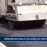 Obreros MPT denuncian mala calidad de asfalto