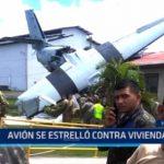 Honduras: Avión se estrelló contra vivienda