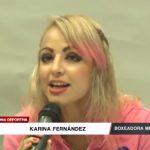 Karina Fernández, boxeadora mexicana ya está en Trujillo