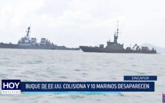 Buque de EE.UU. colisiona y 10 marinos desaparecen