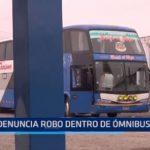 Denuncian robo dentro de bus interprovincial