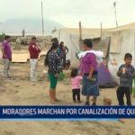 Huanchaco: Moradores marchan pidiendo canalización de quebrada