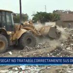 Trujillo: SEGAT no trataría correctamente sus desechos
