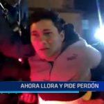Piura: 'Choro' llora y pide perdón al ser detenido