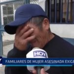 Familiares de mujer asesinada exigen justicia