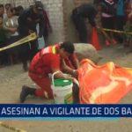 Moche: Asesinan a vigilante de dos balazos