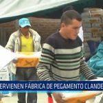 Trujillo: Intervienen fábrica de pegamento clandestino