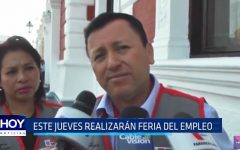 Trujillo: Este jueves realizarán feria del empleo