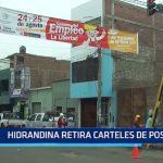 Trujillo: Hidrandina retiran pancartas publicitarias de postes