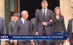 Rinden homenaje a víctimas de atentado terrorista en España