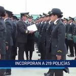 Chiclayo: Incorporan a 219 policías