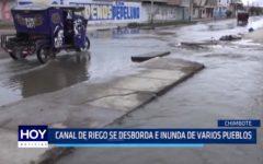 Chimbote: Canal de riego se desborda e inunda varios pueblos