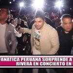 Fanática peruana sorprende a Jerry Rivera durante concierto en Italia