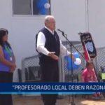"""José Murgia: """"Profesorado local debe razonar por el bien de los estudiantes"""""""