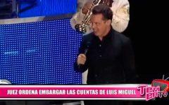 Juez ordena embargar las cuentas de Luis Miguel