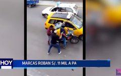Trujillo: Marcas roban 11 mil soles a pasajeros de taxi