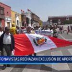 Fonavistas rechazan exclusión de aportantes