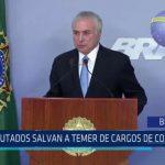 Brasil: Diputados salvan a Temer de cargos de corrupción