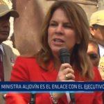 Ministra Aljovín es el enlace con el Ejecutivo