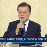 Presidente de Corea del Sur pone paños fríos a tensión con EE.UU.