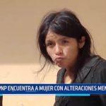 Moche: PNP encuentran a mujer con alteraciones mentales
