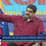 Venezuela: Maduro aplaza instalación de Asamblea Constituyente