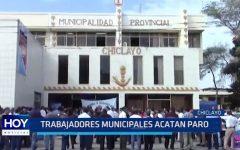 Chiclayo: Trabajadores municipales acatan paro