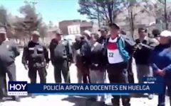 Junín: Policía apoya a docentes en huelga