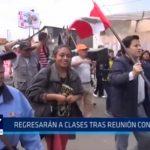 La Libertad: Profesores regresarán a clases tras reunión con ministra de Educación