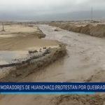 Trujillo: Moradores de Huanchaco protestan por Quebrada El León en la Plaza Mayor