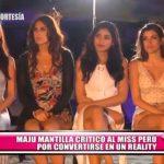 """Maju Mantilla critica el reality """"La Casa de las Reinas"""""""