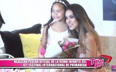 Realizan pedida oficial de la reina infantil del 67° Festival Internacional de Primavera
