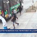 La Esperanza: 4 supuestos delincuentes asaltan microbús