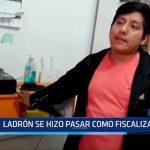 Chiclayo: Ladrón se hizo pasar como fizcalizador