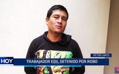 Víctor Larco: Trabajador edil detenido por robo