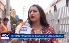 MPT: Retiran tranqueas ilegales en la urbanización La Noria