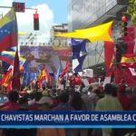 Venezuela: Chavistas marchan a favor de Asamblea Constituyente
