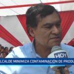Alcalde de Florencia de Mora minimiza contaminación de productos