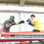 Boxeador trujillano Mattos en las preliminares de Festival TFC