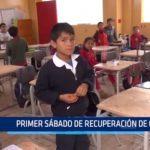 Primer sábado de recuperación de clases en colegios de Trujillo