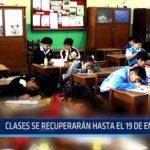 Áncash: Escolares recuperarán clases hasta el 19 de enero