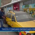 Taxista y comisario enfrentados por choque