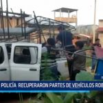 Iquitos: Policía recupera partes de vehículos robados