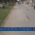 Malestar debido a mal estado de avenida Huamán